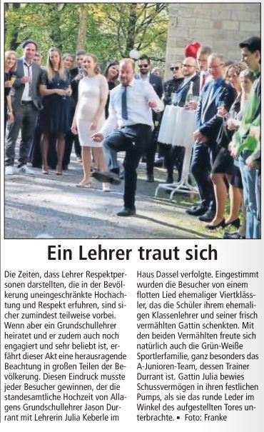 Der Soester Anzeiger berichtet am 16.10.2018