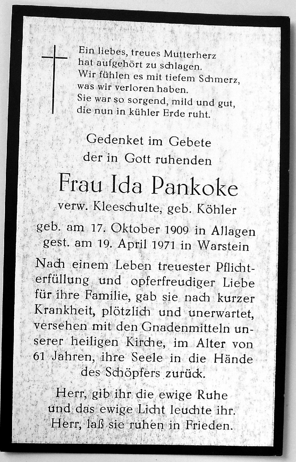 TZ_Koehler_Ida_1909-1971_Kleeschulte_Pankoke